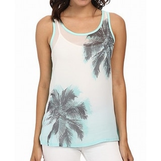 Two By Vince Camuto NEW Green Women's Size XL Palm Tree Tank Cami Top