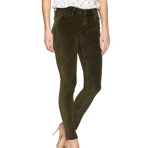 Lucky Brand Green Womens Size 2 Velvet Skinny Leg Brooke Pants