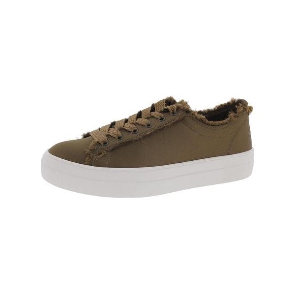 45e4a29a585 Shop Steve Madden Womens Greyla Fashion Sneakers Satin Frayed Trim ...