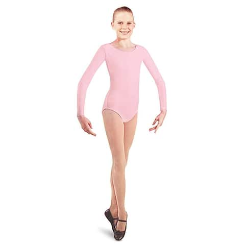 Danshuz Toddler Girls Pink Long Sleeve Dance Leotard Size 2/14