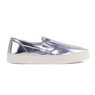 Armani Jeans Women's SIlver Slip On Fashion Flat Sneakers