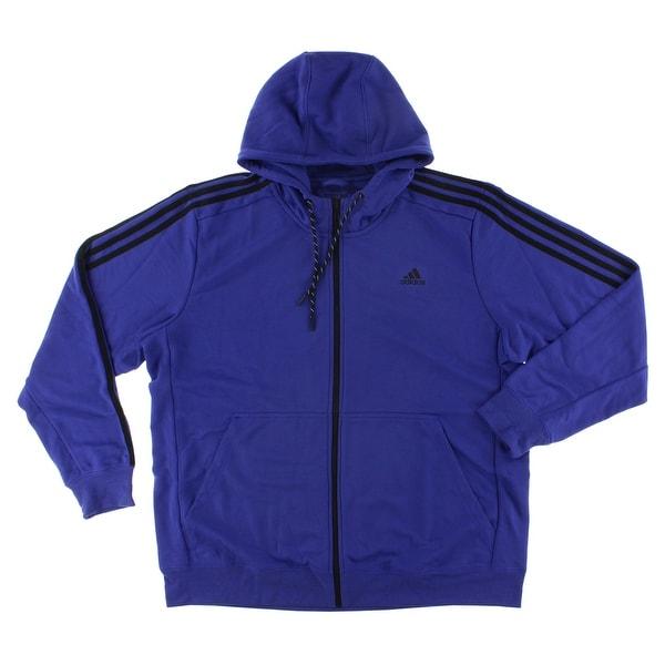 9db656aa5 Shop Adidas Mens Sport Essentials Hoodie Indigo - indigo/black - Free  Shipping Today - Overstock - 22545282