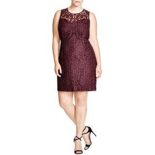 BB Dakota Womens Plus Cocktail Dress Lace Sleeveless