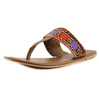 29 Porter Rd Katy Women Open Toe Leather Multi Color Flip Flop Sandal