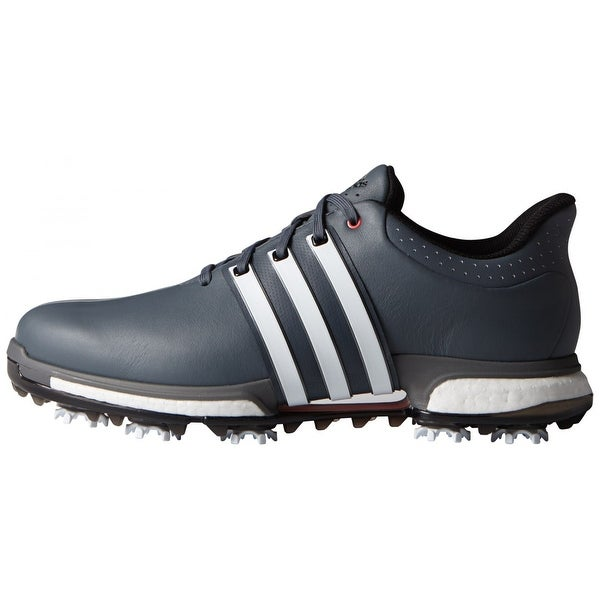 Shop Adidas Men s Tour 360 Boost Onix White Shock Red Golf Shoes ... 0c69d18b2