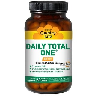 Country Life Vitamins Daily Total One Iron-Free (60 Veggie Capsules)