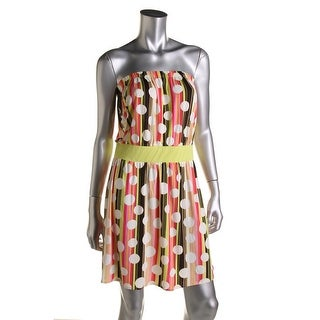 Hotsauce Style Womens Printed Strapless Sundress - S