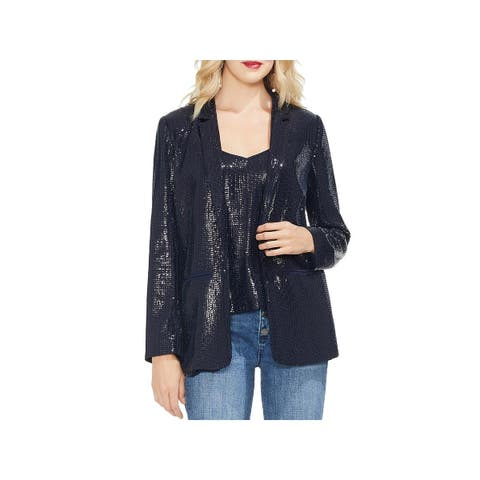 Vince Camuto Womens Open-Front Blazer Sequined Notch Collar