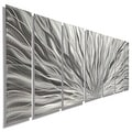 Statements2000 Silver Etched Modern Metal Wall Art Sculpture by Jon Allen - Silver Plumage - Thumbnail 0