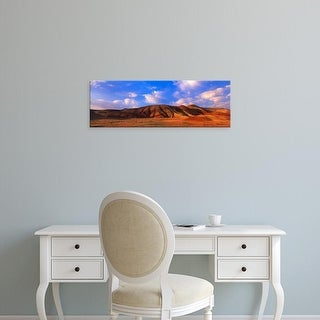 Easy Art Prints Terry Eggers's 'Painted Hills Spring Bloom And Hills' Premium Canvas Art