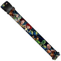 Toy Story Characters Running Denim Rays Luggage Strap