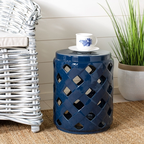 Safavieh Betli Lattice Ceramic Decorative Garden Stool. Opens flyout.