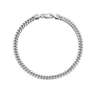 Bling Jewelry Mens 925 Silver Miami Cuban Chain Bracelet 150 Gauge Italy