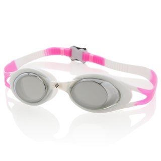 Ivation Mirrored Swim Goggles - UV Protection, Anty-Fog, Quick Adjusting Silicone Head Strap (Option: White/Pink)