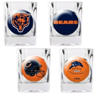 Great American Products Chicago Bears Shot Glass Set 4pc Collectors Shot Glass Set