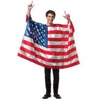 Rasta Imposta USA Flag Tunic Adult Costume - Solid - one-size