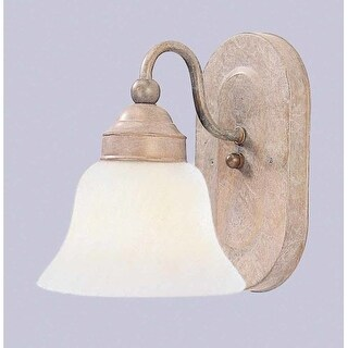 Volume Lighting V1661 1 Light Bathroom Sconce with Clear Ribbed Glass Dome Shade