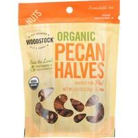 Woodstock Organic Pecan - Halves - Case of 8 - 4.5 oz.