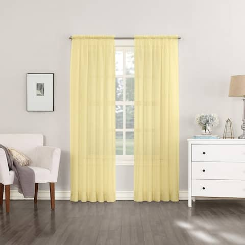 No. 918 Emily Voile Sheer Rod Pocket Curtain Panel, Single Panel