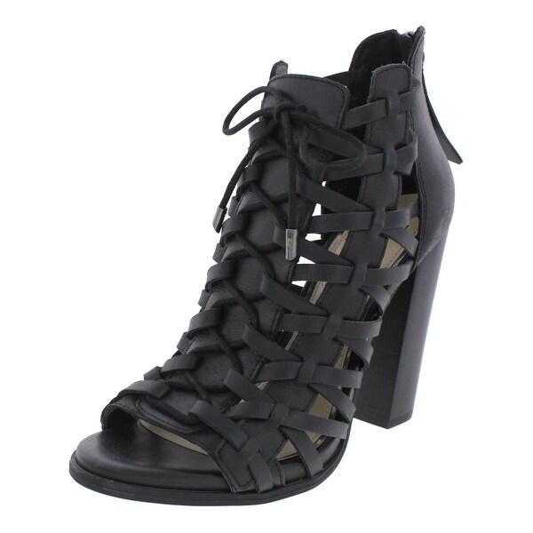 Jessica Simpson Womens Riana Heels Leather Caged - 8.5 medium (b,m)