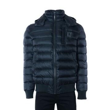 Roberto Cavalli Men's Solid Black Puffer Jacket