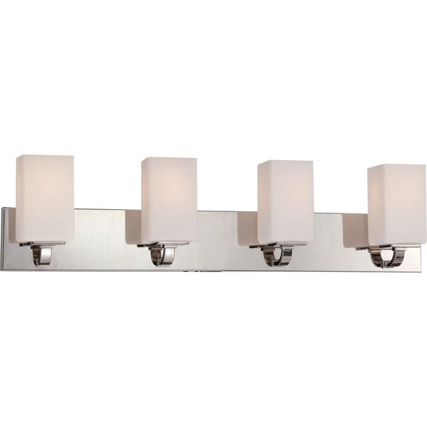 Nuvo Lighting 60/5184 Vista 4 Light Bathroom Vanity Light - Polished Nickel