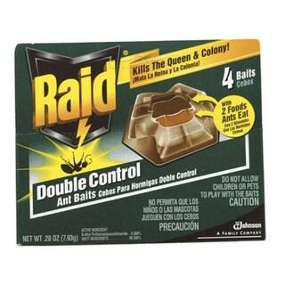 Raid 71480 Double Control Ant Baits, 4 Baits