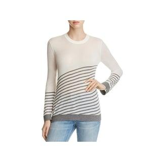 Bobeau Womens Marisole Pullover Sweater Striped Lightweight