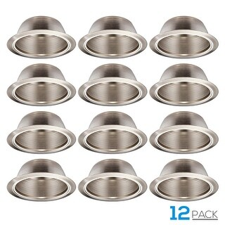 TORCHSTAR 12 Pack 6 Inch Recessed Can Light Trim Step Baffle