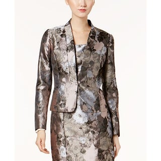 Link to Kasper Gray Pink Women's Size 4 Antique Printed Kiss-Front Jacket Similar Items in Women's Outerwear