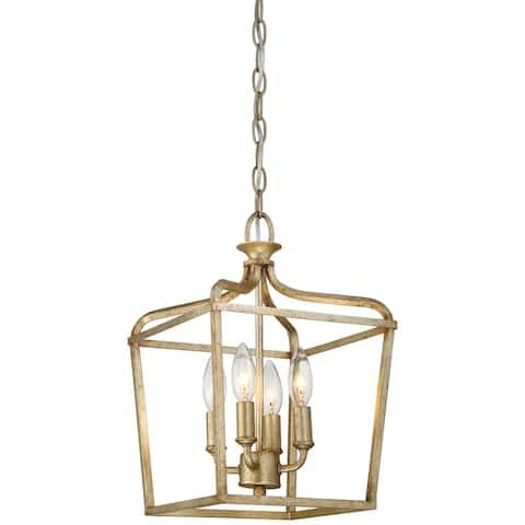 Laurel Estate Brio Gold 4 Light Pendant by Minka Lavery