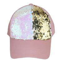 David & Young Women's Cotton Baseball Cap with Sequins