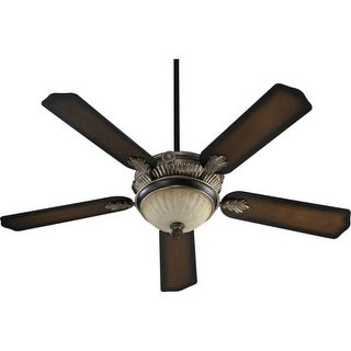 "Quorum International 48525 5 Blade 52"" 3 Speed 3 Light Ceiling Fan ? Light and Blades Included"