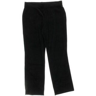 Karen Scott Womens Lounge Pants Velour Pull On
