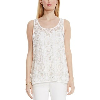 Vince Camuto Womens Blouse Sequined Lace