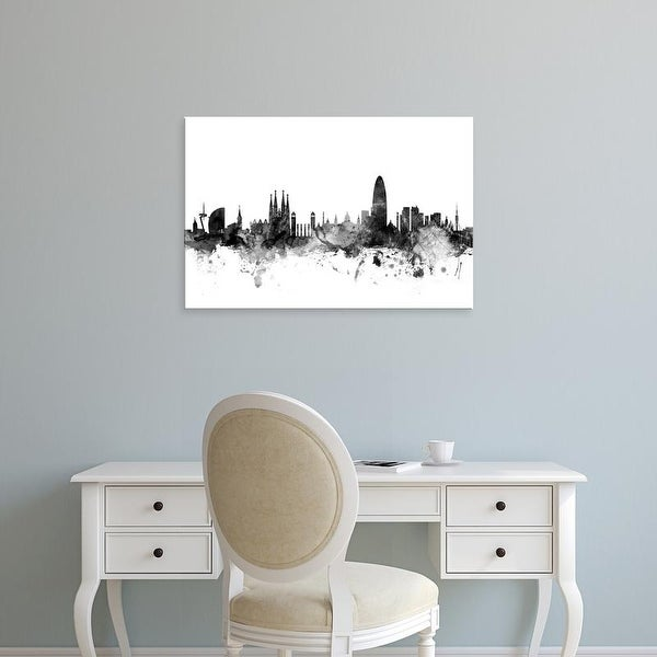 Easy Art Prints Michael Tompsett's 'Barcelona Spain Skyline' Premium Canvas Art