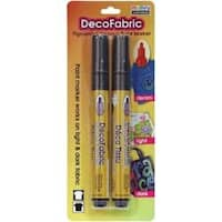 White - Decofabric Markers 2/Pkg