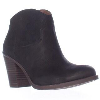 Lucky Brand Eller Short Western Boots - Black