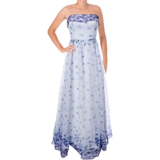 Adrianna Papell Womens Organza Prom Semi-Formal Dress