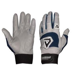 Akadema Grey/Navy Professional Batting Gloves XXL