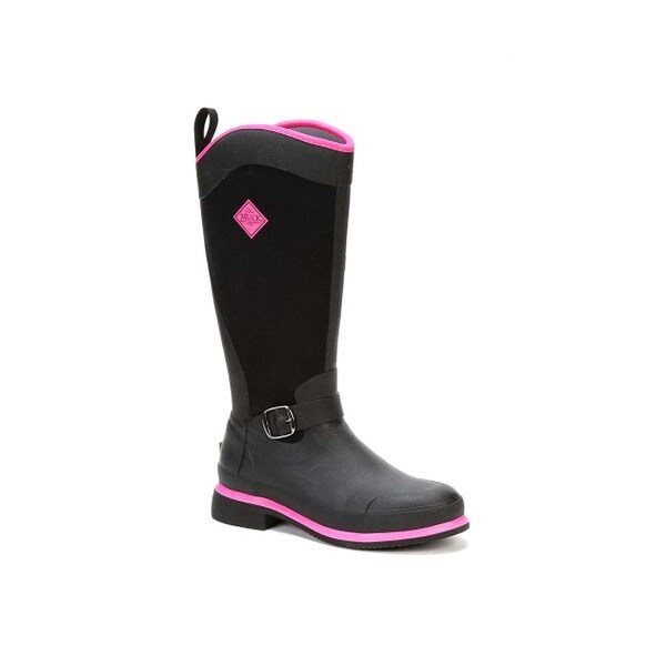 Muck Boot Women's Reign Tall Black with Hot Pink Size 5 Equestrian Boot