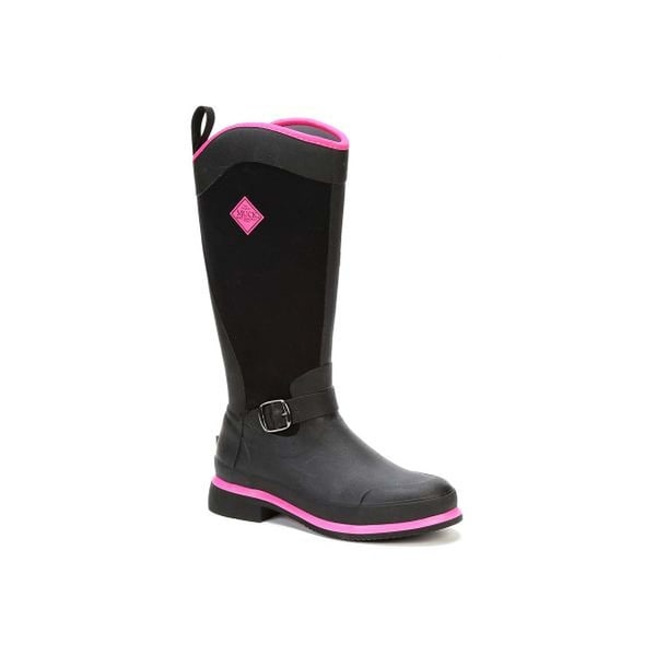 Muck Boot Women's Reign Tall Black with Hot Pink Size 7 Equestrian Boot