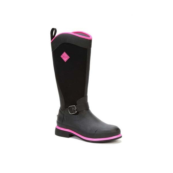 Muck Boot Women's Reign Tall Black with Hot Pink Size 9 Equestrian Boot