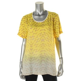 Vince Camuto Womens Printed Ombre Blouse - M