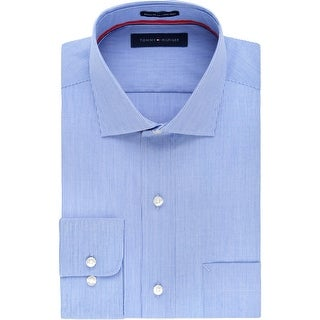 Link to Tommy Hilfiger Mens Big & Tall Dress Shirt Pinstripe Non-Iron - Stream - 22 35/36 Similar Items in Big & Tall
