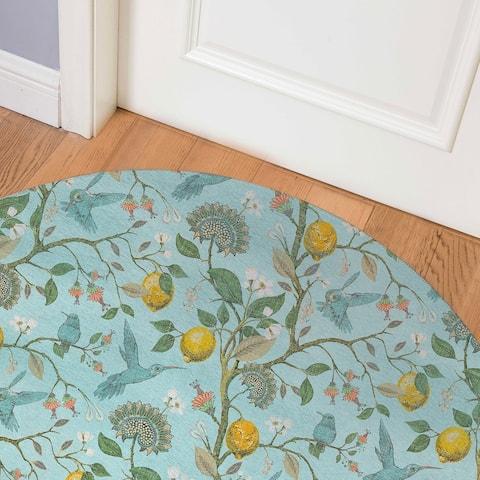 LEMON BLUE Indoor Floor Mat By Kavka Designs