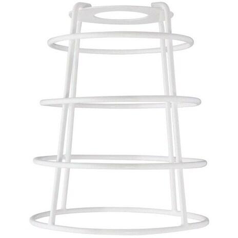 Westinghouse 85039 Cylindrical Open Bottom Cage Shade, White