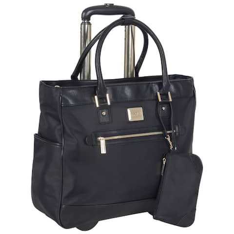 Kenneth Cole Reaction Nylon Wheeled 17-inch Laptop Rolling Business Tote / Carry-On Bag With Anti-Theft RFID