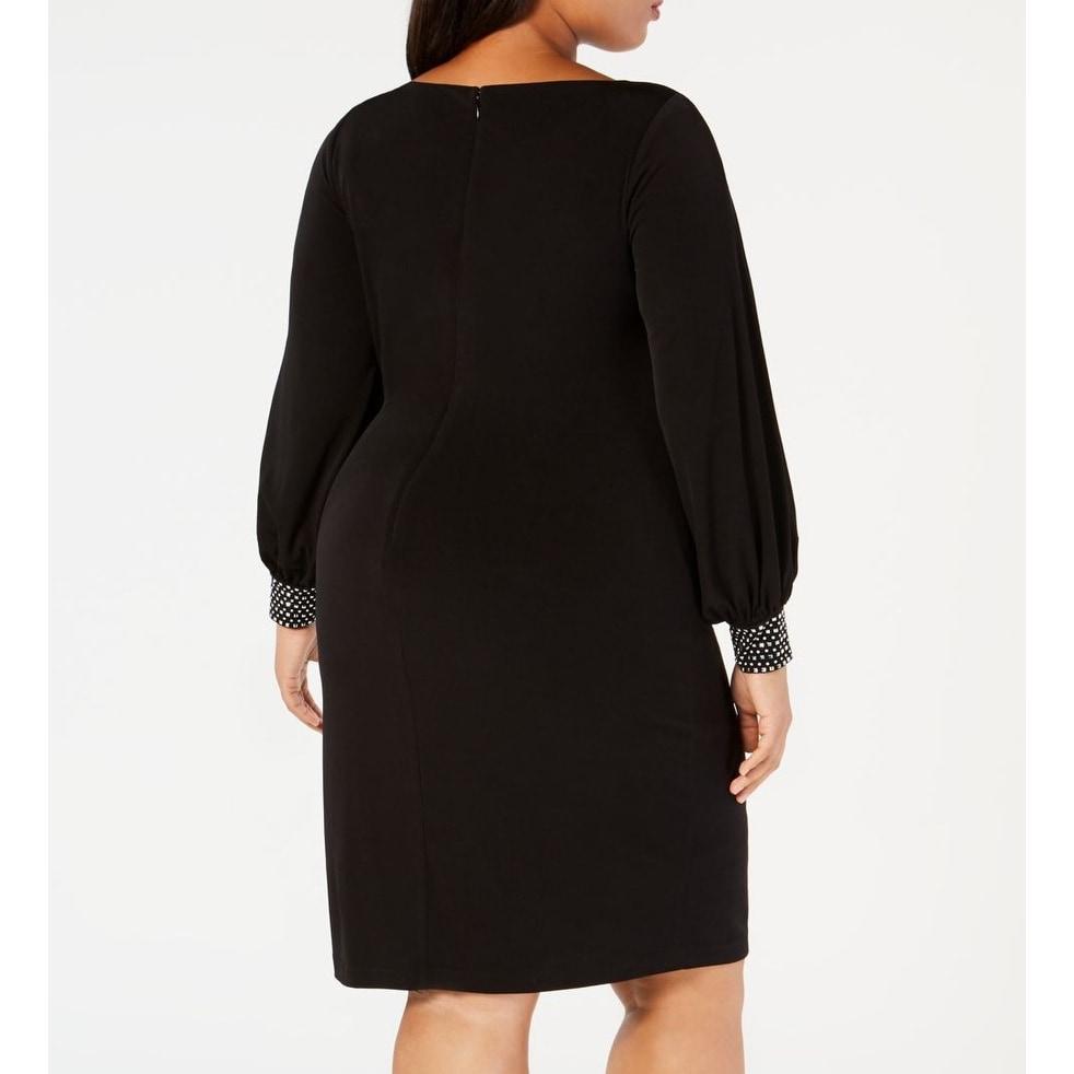 Jessica Howard Women/'s Plus Size Embellished-Cuff Sheath Dress