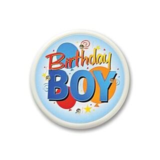 "Pack of 6 ""Birthday Boy"" Flashing Costume Celebration Buttons 2.5"""